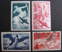 LOT 3804/64 - 1946 - POSTE AERIENNE - N° 16 à 19 NEUFS*/☉- Cote : 8,90 € - 1927-1959 Oblitérés