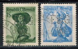 ÖSTERREICH 1951 - MiNr: 912+916 Perfin  Used - 1945-.... 2. Republik