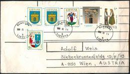 LITAUEN 1993-1995 - Beleg Mit 6 Ausgaben - Litauen
