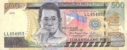 PHILIPPINES 500 PISO (PESOS) 2009 P-196k AU S/N LL654953 [PH1049k] - Filippijnen
