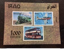 Iraq 2017 July Stamp Means Transportation Locomotive Hijaz Railway Train Plane - Iraq