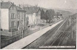 CPA-1915-68-WESSERLING-La GARE Et POSTE-TBE - Autres Communes