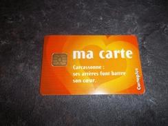 JOLIE CARTE A PUCE CEV / CARTAPLUS VILLE : CARCASSONNE T.B.E !!! - France