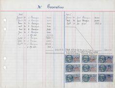 Vieux Papiers : Extrait Livre De Comptes Janvier 1945 - Revenue Stamps