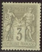 France 1880 Yv. N°87 - 3c Gris - (*) Neuf Avec Charnière - 1876-1898 Sage (Tipo II)