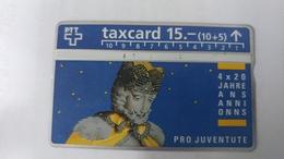 Switzerland-(benefit-b-03)-pro Juventute4x20jahre Konig Melchior-(210d)-100.000-used Card+1card Prepiad Free - Suisse