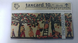 Switzerland-(benefit-b-05)-pro Patria-obsternte-(404b)-37.400-used Card+1card Prepiad Free - Suisse