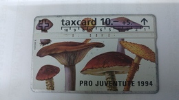 Switzerland-(benefit-b-06a)-pro Juventute1994-(408c)-scratch Peeled Paint-100.000-used Card+1card Prepiad Free - Suisse
