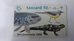 Switzerland-(benefit-b-08)-pro Juventute 1995-(508c)-100.000-used Card+1card Prepiad Free - Suisse