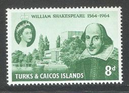Turks And Caicos Is 1964,Shakespeare Issue,Sc 141,VF MNH** (SL-1) - Great Britain (former Colonies & Protectorates)