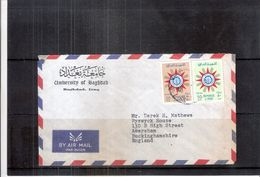 """Cover From Iraq To England - With Heading """"University Of Baghdad"""" (to See) - Iraq"""