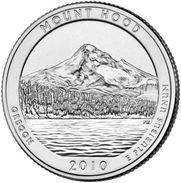USA EEUU 25 CENTS. QUARTER DOLLAR  MONTE HOOD 2010 D  UNC - PAS CIRCULÉE  - SC - EDICIONES FEDERALES