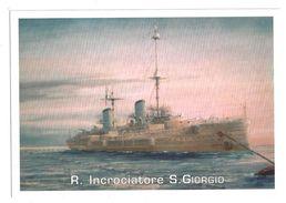 CARTOLINA R. INCROCIATORE SAN GIORGIO - 1 - Guerra