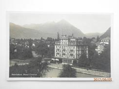Postcard Interlaken Hotel Central PU 1930 My Ref  B11632 - BE Berne