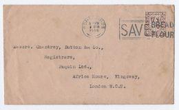 1948 Waterford IRELAND COVER SLOGAN Pmk SAVE BREAD FLOUR Port Lairge Stamps - 1937-1949 Éire