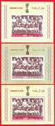 RARE! AJMAN 1968. FOOTBALL. 3SS (PERF.+ 2 IMPERF.) MNH. I2017. S10.5v - Soccer