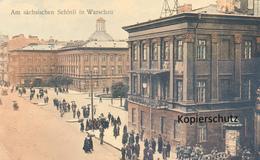 AK,Warschau, Am Sächsische Schloss - Polen