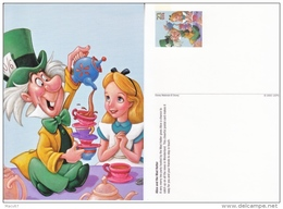 DISNEY POSTAL CARD    ALICE  & The  MAD  HATTER    ** - Maximum Cards