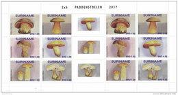 SURINAME 2017 ** Mushrooms Pilze Champignons M/S - OFFICIAL ISSUE - DH1734 - Paddestoelen