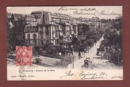 Vaud - LAUSANNE - Avenue De La Gare - Tram - 1908 // Dos Blessé // - VD Vaud