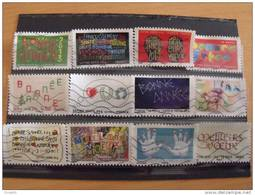 SERIE VOEUX  2012 12 TIMBRES DIFFERENTS - France