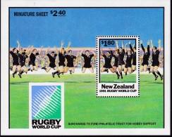 New Zealand 1991 Rugby World Cup Sheet Sc 1057a Mint Never Hinged - Ongebruikt