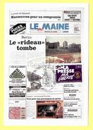 CP Numérotée : 000935 -  11/11/1989 : LE MAINE 1er PAGE  Mur De BERLIN ( Timbre Presse Ma LIBERTE ) - France