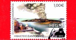 GRECIA - Usato - 2015 - Paesaggi - Vulcano Di Santorini - 1.00 - Grecia