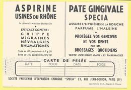 STE PARIS D´EX CHIMIQUE SPECIA 21 Rue Jean Coulon PARIS 8- ASPIRINE USINE DU RHONE - PATE GINGIVALE -LES Porteurs  D Eau - Health