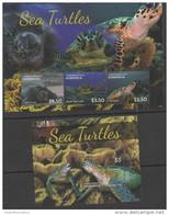 DOMINICA, 2014,TURTLES, SEA TURTLES, SHEETLET+ S/SHEET - Tortues