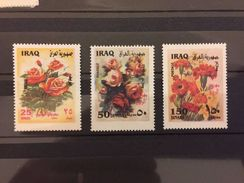 Iraq 2002 Flower Stamp MNH Set - Iraq