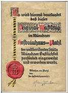 DIPLOM IN GERMAN STYLE PERGAMENT DEFINE (Inhalt Set) - Diplômes & Bulletins Scolaires