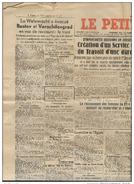 JOURNAL Le Petit Niçois Du 19 Février 1943 - Non Classés
