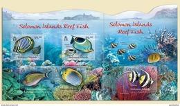 SOLOMON ISLANDS 2012 SHEET REEF FISH FISHES PECES PEIXES DE RECIFE MARINE LIFE POISSONS Slm12114c - Isole Salomone (1978-...)