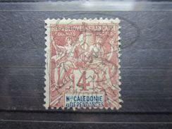 """VEND BEAU TIMBRE DE NOUVELLE - CALEDONIE N° 43 , OBLITERATION """" NOUMEA """" !!! - Usados"""