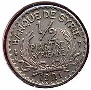 Etat De Syrie (protectorat Français) - Syria : 1/2 Piastre Syrienne 1921 - Colonies