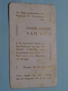 Marie-Jeanne VAN HOU Brugge 12 Juni 1949 ( Zie Foto's ) ! - Communion