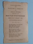 René Van WONTERGHEM Den 13 & 14 Maart 1921 Te St. PIETERS-op-den-DYK ( Zie Foto's ) ! - Communion