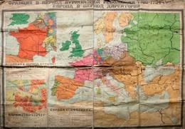 Russische Europa-Karte Zur Franz. Revolution 1794-1799 - Landkarten
