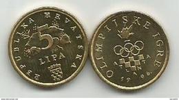 Croatia 5 Lipa 1996. KM#37  Olympic Games In Atlanta In 1996 HIGH GRADE - Croacia