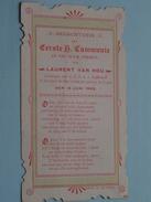 Laurent VAN HOU Den 15 Juni 1905 I/d Kapel St. Lodewijkscollege Te BRUGGE ( Waffelaert) ( Zie Foto's / Plooi ) ! - Communion