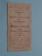 Michel De CLERCK Le 12 Mai 1904 Faites En L'Institut St. François Xavier à BRUGES () ( Zie Foto's ) ! - Communion
