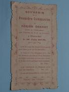 Adrien DENAET Le 18 Juin 1908 Faite Au Pensionnat Des Frères ND Lourdes à OOSTACKER () ( Zie Foto's ) ! - Communion
