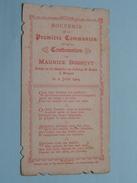 Maurice BOSSUYT Le 2 Juin 1904 Faite Au Chapelle De Collège St. LOUIS à BRUGES () ( Zie Foto's ) ! - Communion