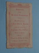 D' André Otto De MENTOCK Le 2 Juin 1904 à BRUGES Collège St. LOUIS (Waffelaert) ( Zie Foto's ) ! - Communion