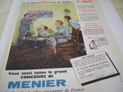 ANCIENNE PUBLICITE  CHOCOLAT TOUR DU MONDE  MENIER  1955 - Affiches