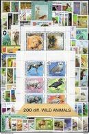 200 Verschiedene Briefmarken Tiere **/o 60€ Aus Aller Welt Wiener Tasche Various Fauna Set/bloc Bf WWF Wild Animals - Briefmarken