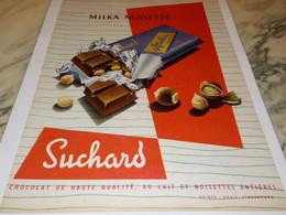 ANCIENNE PUBLICITE CHOCO MILKA SUCHARD 1957 - Posters