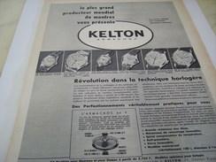 ANCIENNE PUBLICITE MONTRE KELTON  ARMACHOC 1955 - Autres