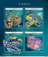 SOLOMON ISLANDS 2015 SHEET FISHES POISSONS PEIXES PECES MARINE LIFE Slm15506a - Salomoninseln (Salomonen 1978-...)